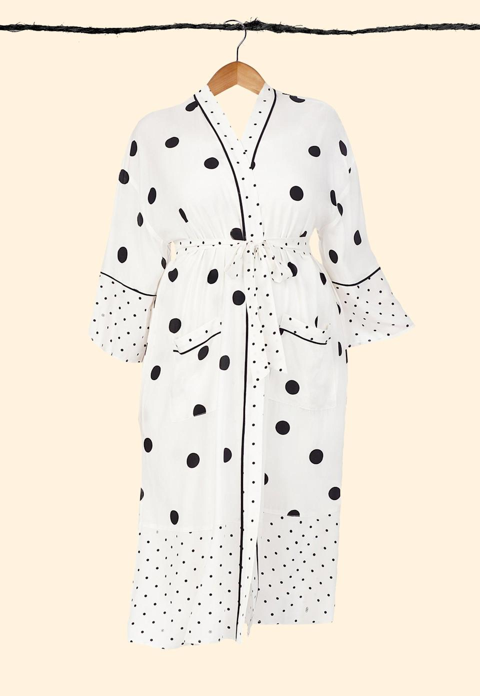 "<h3>Refinery29 Connie Print Woven Robe</h3> <br>For many a first-time mom, #robelife is going to be a permanent state of being on the weekends. Might as well invest in a cute one, right?<br><br><strong>Refinery29</strong> Connie Eco-Vero Maxi Robe, $, available at <a href=""https://go.skimresources.com/?id=30283X879131&url=https%3A%2F%2Fshop.nordstrom.com%2Fs%2Frefinery29-print-woven-robe-regular-plus-size%2F5571010%2Ffull"" rel=""nofollow noopener"" target=""_blank"" data-ylk=""slk:Nordstrom"" class=""link rapid-noclick-resp"">Nordstrom</a><br>"
