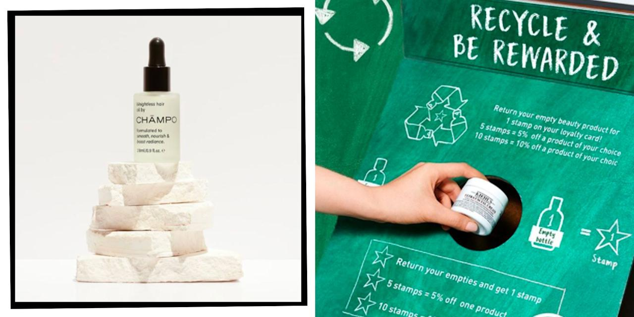 """<p class=""""body-dropcap"""">When it comes to a <a href=""""https://www.elle.com/uk/beauty/make-up/articles/g31306/eco-friendly-beauty-products/"""" target=""""_blank"""">sustainable beauty</a> routine we've got the re-usable muslin cloths ready to go, we're clued up on <a href=""""https://www.elle.com/uk/beauty/a28794621/refillable-beauty-products/"""" target=""""_blank"""">refillable</a> products and we can recite the dangers of <a href=""""https://www.elle.com/uk/beauty/skin/articles/a31140/7-alternatives-to-microbead-exfoliants/"""" target=""""_blank"""">microbeads</a> at the slightest mention of <a href=""""https://www.elle.com/uk/beauty/make-up/a39304/eco-friendly-hair-makeup-tips/"""" target=""""_blank"""">eco-friendly </a>skincare. But, despite our earth-friendly efforts, 45 per cent of make-up wearers still don't know that you can recycle your beauty products, and 42 per cent wouldn't know where to start even if they did know (according to a study carried out by Maybelline 2020).</p><p>Altering our beauty habits to conscientiously shop <a href=""""https://www.elle.com/uk/natural-beauty-products/"""" target=""""_blank"""">cleaner ingredients</a>, <a href=""""https://www.elle.com/uk/beauty/skin/a29227550/plastic-free-beauty/"""" target=""""_blank"""">plastic-free packaging</a> and <a href=""""https://www.elle.com/uk/beauty/a33967930/ethical-beauty-products/"""" target=""""_blank"""">ethically</a>-sourced formulas is a great start to altering the way we buy beauty as a nation, but what happens once you've finished that <a href=""""https://www.elle.com/uk/beauty/make-up/g32198/best-vegan-makeup/"""" target=""""_blank"""">vegan</a> foundation or <a href=""""https://www.elle.com/uk/beauty/body-and-physical-health/a27402217/marine-friendly-spf-sun-cream/"""" target=""""_blank"""">coral reef-friendly SPF</a>? It goes straight in the bin. Not anymore.</p><h2 class=""""body-h2"""">How To Recycle Your Make-Up </h2><p>Closing the <a href=""""https://www.elle.com/uk/beauty/skin/a26096041/loop-returnable-beauty-packaging-service/"""" target=""""_blank"""">loop </a>on our beauty routines is the great"""