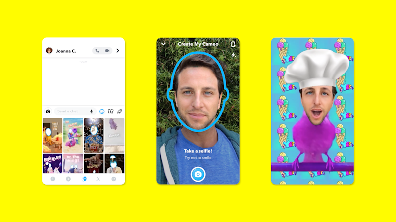 Cameo is a new way to interact on Snapchat.