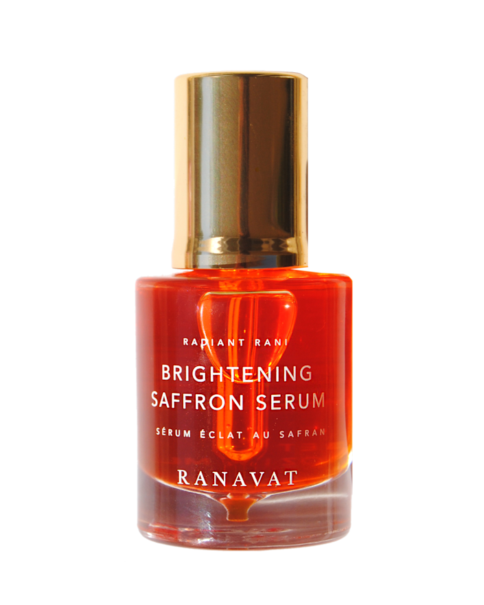"""<p><strong>Ranavat Brightening Saffron Serum - Radiant Rani</strong></p><p>ranavat.com</p><p><strong>$135.00</strong></p><p><a href=""""https://www.ranavat.com/collections/shop-your-ritual/products/brightening-saffron-serum"""" rel=""""nofollow noopener"""" target=""""_blank"""" data-ylk=""""slk:Shop Now"""" class=""""link rapid-noclick-resp"""">Shop Now</a></p><p>Michelle Ranavat's luxurious and clean skin, hair, and wellness brand Ranavat was inspired by wanting to celebrate her Indian American culture. Many products feature <a href=""""https://www.harpersbazaar.com/uk/beauty/a34095579/ayurveda-skincare/"""" rel=""""nofollow noopener"""" target=""""_blank"""" data-ylk=""""slk:Ayurvedic ingredients"""" class=""""link rapid-noclick-resp"""">Ayurvedic ingredients</a> or rituals, creating products for those who've used the practices for years and opening doors to newcomers. </p>"""