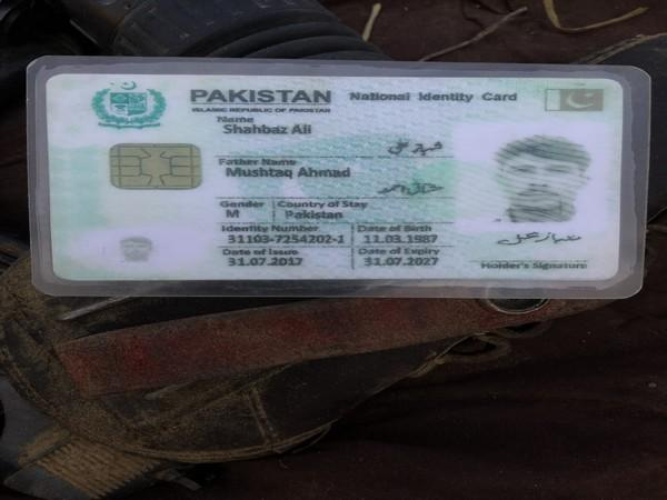 One of the dead was identified as Shahbaz Ali from the Identity card recovered (Photo/ANI)