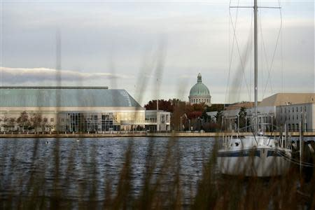 The U.S. Naval Academy is seen in Annapolis