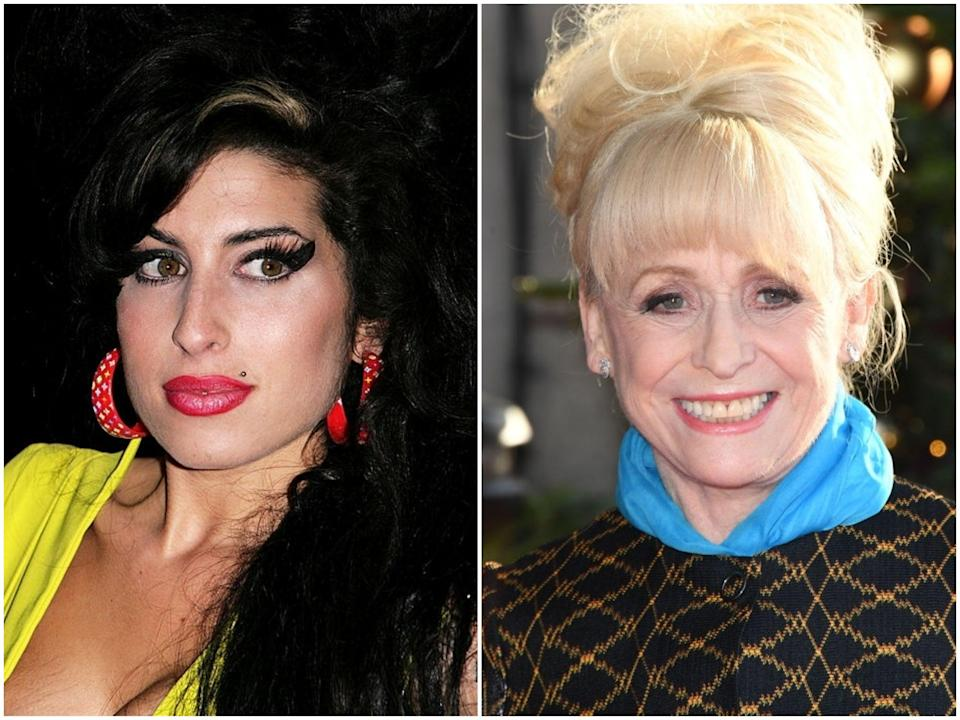 <p>Amy Winehouse in 2007, and Barbara Windsor in 2017</p> (Gareth Cattermole/Stuart C Wilson/Getty Images)