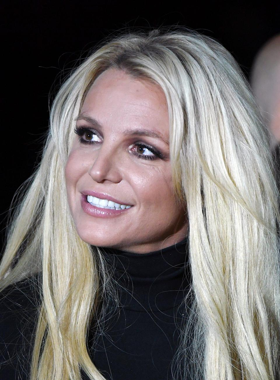 Britney Spears attends the announcement of her Britney: Domination residency at Park MGM on Oct. 18, 2018, in Las Vegas.