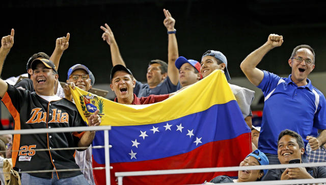 The Venezuela Professional Baseball League could be without MLB players this year. (Al Diaz/Miami Herald/TNS via Getty Images)