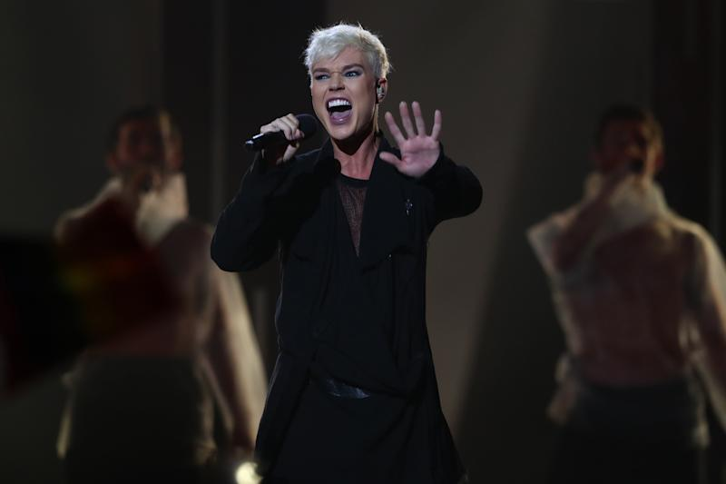 Jack Vidgen performs during Eurovision - Australia Decides at Gold Coast Convention and Exhibition Centre on February 08, 2020 in Gold Coast, Australia.