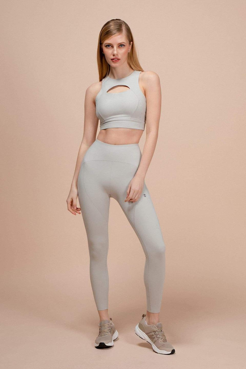 """<p><strong>Enavant Active </strong></p><p>enavantactive.com</p><p><strong>$105.00</strong></p><p><a href=""""https://www.enavantactive.com/products/nova-leggings?variant=32247089004621"""" rel=""""nofollow noopener"""" target=""""_blank"""" data-ylk=""""slk:Shop Now"""" class=""""link rapid-noclick-resp"""">Shop Now</a></p><p>If you are on the hunt for a new activewear brand, Enavant is the one to know. The brand offers outerwear, halter sports bras, leggings, and sets crafted with the brand's custom-made fabric. The fabric is breathable, features anti-odor technology, has UV protection, and is wrinkle and dust free.</p>"""
