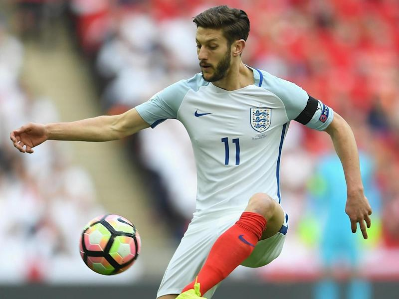 Lallana completed 90 minutes for England but will now miss a month (Getty Images)