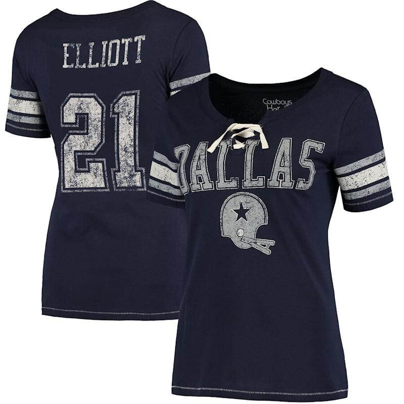 Ezekiel Elliott Cowboys Women's Name & Number T-Shirt