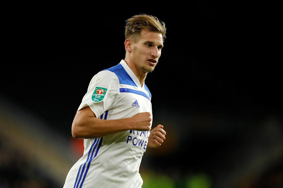 <p>Marc Albrighton won the Premier League with Leicester in 2015[ </p>