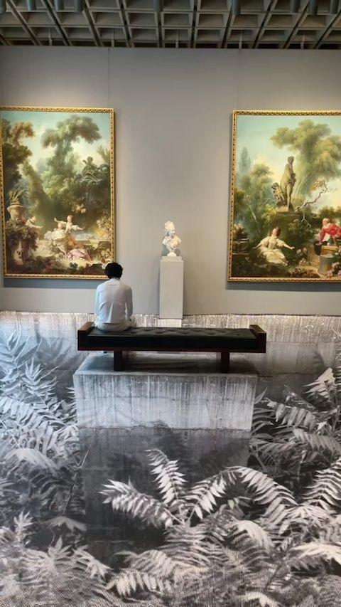"""<p>Chalamet shared a video of himself sitting in white in the museum. </p><p><a href=""""https://www.instagram.com/tv/CTxw7DOpR6L/"""" rel=""""nofollow noopener"""" target=""""_blank"""" data-ylk=""""slk:See the original post on Instagram"""" class=""""link rapid-noclick-resp"""">See the original post on Instagram</a></p>"""