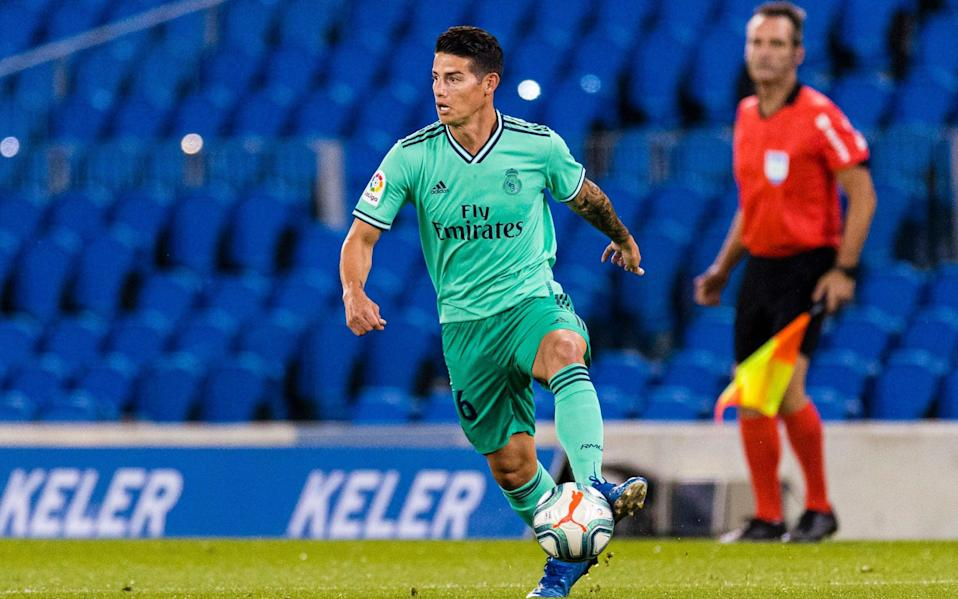 James Rodriguez of Real Madrid in action during the Liga match between Real Sociedad and Real Madrid - Getty Images