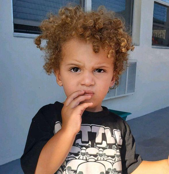 PHOTO: Leila Cavett's child, pictured, was found alone in a parking lot in Miramar, Florida. (Miramar Police Department via Twitter)