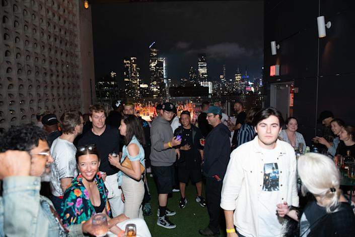 """People attend the """"Ricky Powell: The Individualist"""" after party at Le Bain At The Standard on June 14, 2021 in New York City."""