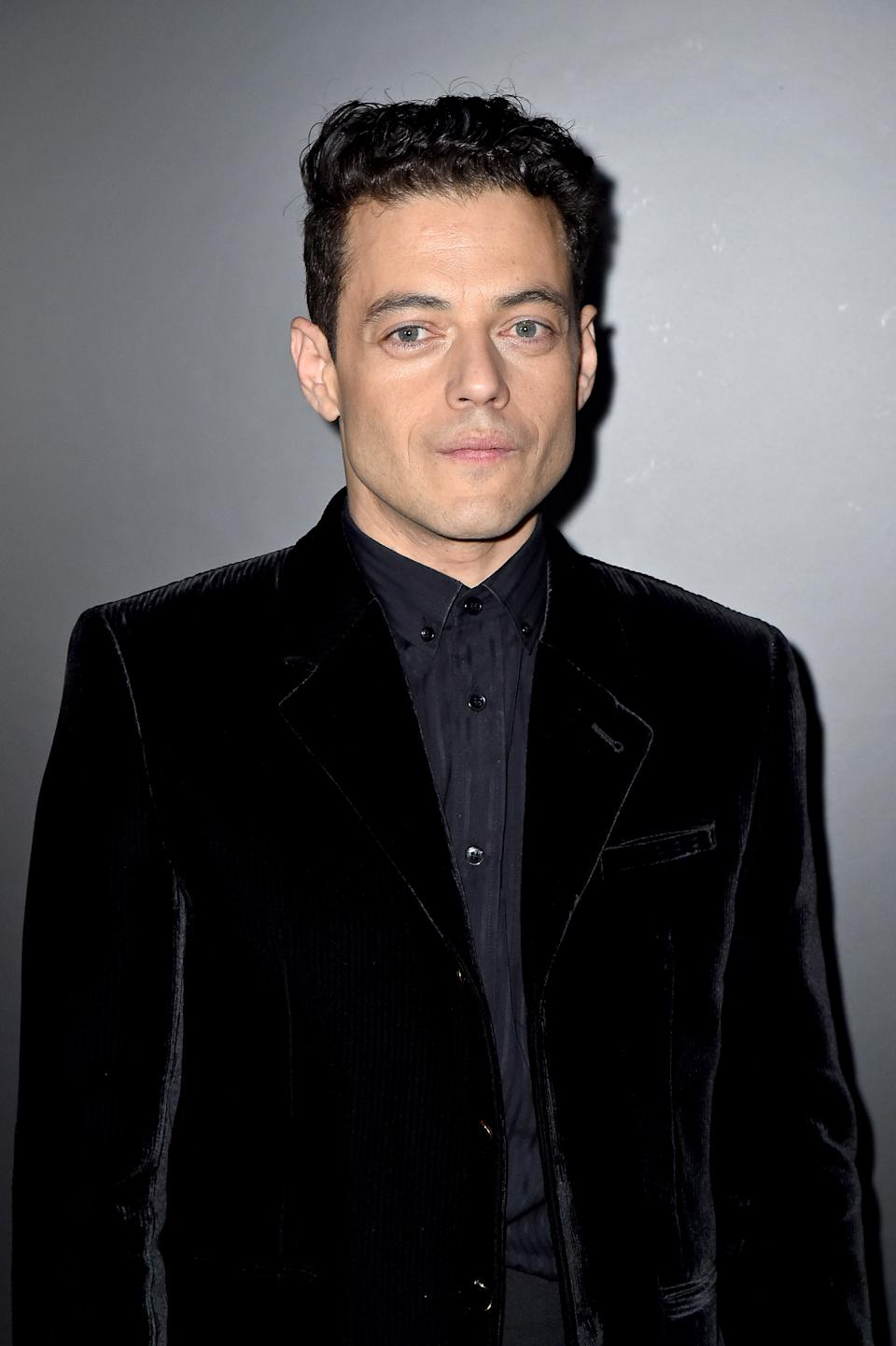 Rami Malek attends the Saint Laurent show as part of the Paris Fashion Week Womenswear Fall/Winter 2020/2021 on February 25, 2020 in Paris, France. (Photo by Dominique Charriau/WireImage)