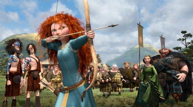 "Ladies First Pixar's 13th film is their first to feature a female lead. But Princess Merida isn't your average fairytale princess waiting for a prince to save the day. Co-director Brenda Chapman's predominant inspiration for Merida was ""the bundle of passion, stubbornness, determination, and strength of character"" that is Chapman's own daughter."