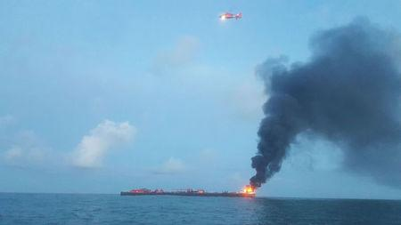Coast Guard responds to barge on fire approximately three miles from Port Aransas jetties in Texas