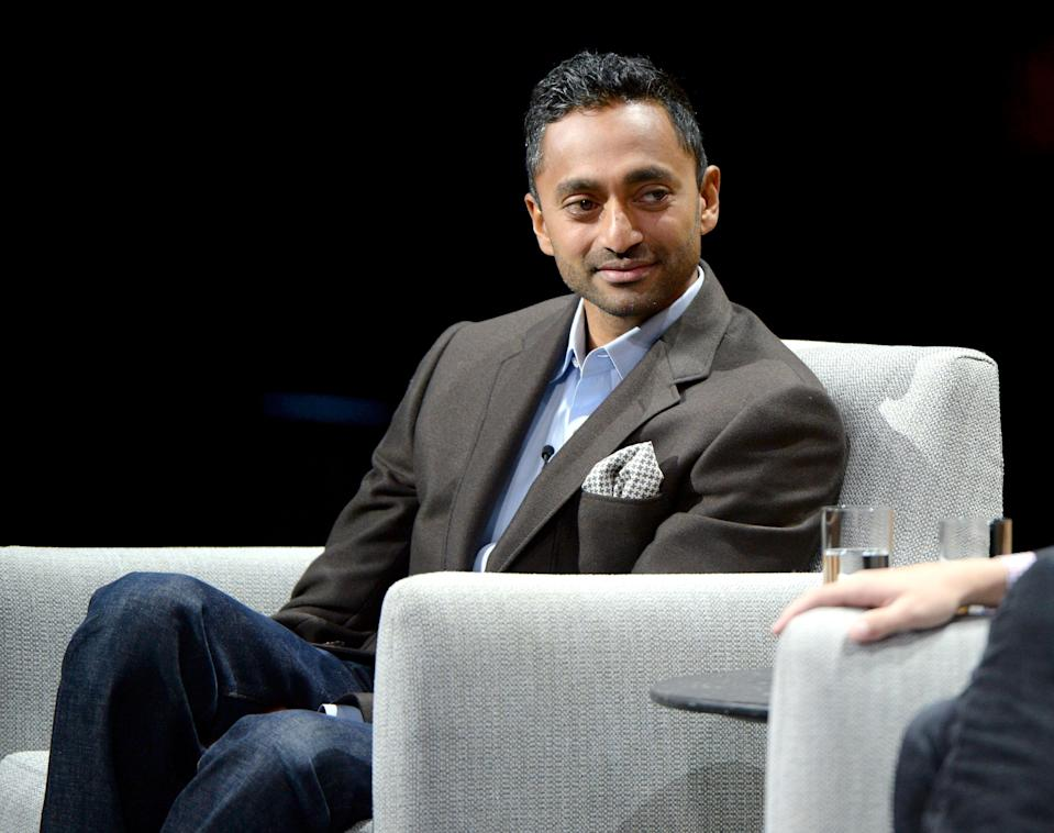 """SAN FRANCISCO, CA - OCTOBER 19: Founder/CEO of Social Capital, Chamath Palihapitiya, speaks onstage during """"The State of the Valley: Where's the Juice?"""" at the Vanity Fair New Establishment Summit at Yerba Buena Center for the Arts on October 19, 2016 in San Francisco, California. (Photo by Michael Kovac/Getty Images for Vanity Fair)"""