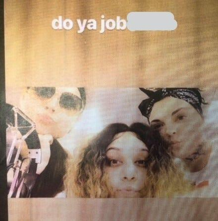 """Social media post, allegedly made by three female Felony Lane Gang members, who police say taunted them on Instagram to """"do ya job."""""""