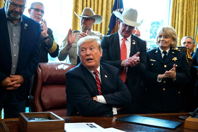 Because of President Donald Trump's national emergency over his border wall, planned projects at military bases worldwide could instead go to build a barrier along the U.S.-Mexico border. (Photo: ASSOCIATED PRESS)