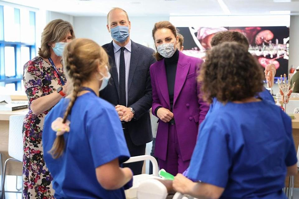 The Duke and Duchess of Cambridge talk to medical students during a tour of the university (Chris Jackson/PA) (PA Wire)