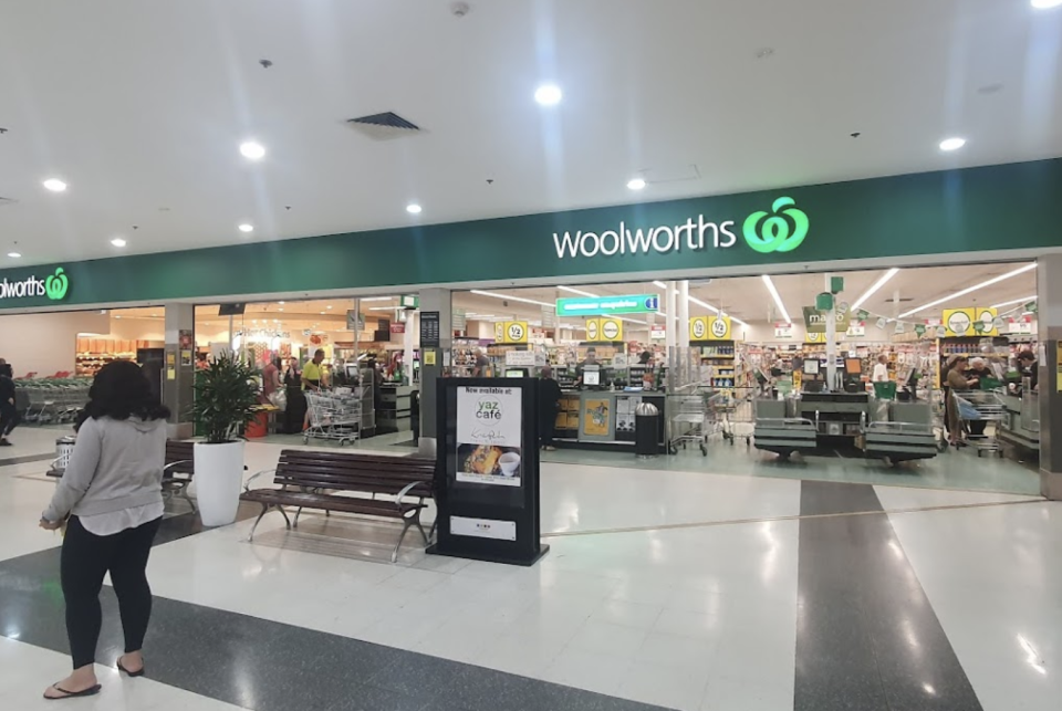 The outide of the Woolworths supermarket at Chester Square Shopping Centre.