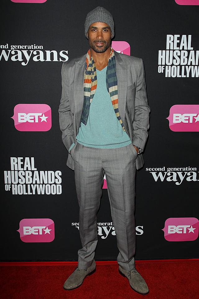 "Boris Kodjoe arrives at the screenings of BET Networks' ""Real Husbands of Hollywood"" and ""Second Generation Wayans"" held at the Regal Cinemas L.A. Live on January 8, 2013 in Los Angeles, California."