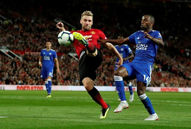 Luke Shaw scored his first career goal as United won their Premier League opener at Old Trafford