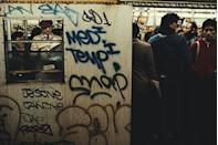 <p>Look familiar? Commuters pack themselves onto a subway train in Manhattan.</p>