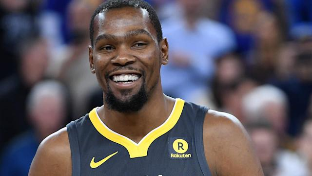 Kevin Durant helped the Warriors take a 3-1 series lead over the Pelicans, but he received some help before the game even started.
