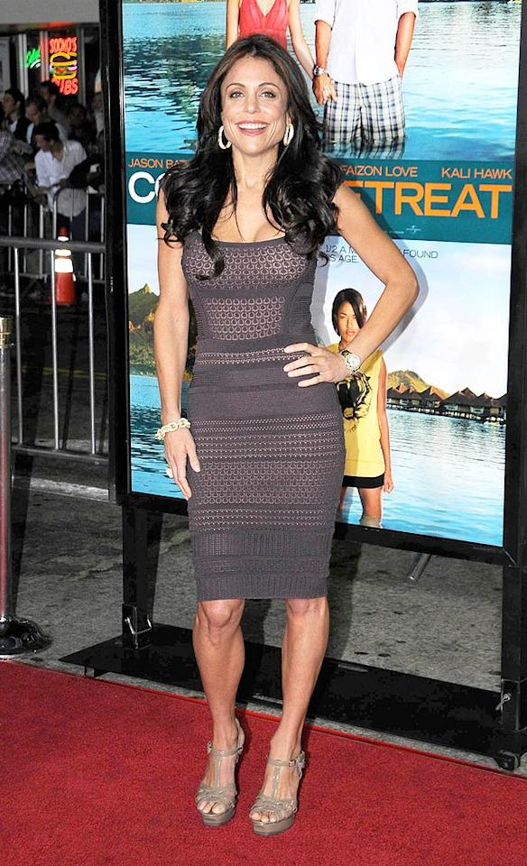 """Following in Malin's footsteps was """"Real Housewives of New York"""" star and celebrity chef Bethenny Frankel, who popped a pose in a super sexy bandage dress and strappy platform wedges. Entertainment Press/<a href=""""http://www.splashnewsonline.com"""" target=""""new"""">Splash News</a> - October 5, 2009"""