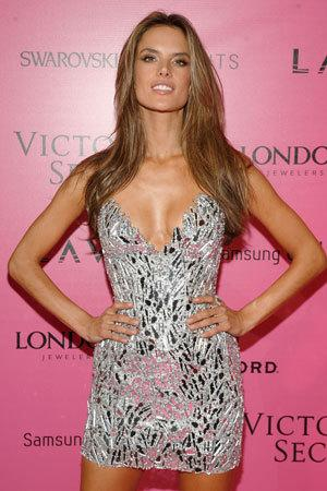 Brazilian model Alessandra Ambrosio sparkles at the VS after party.