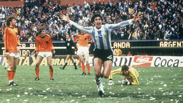 Mario Kempes Argentina Netherlands World Cup 1978 Final Match