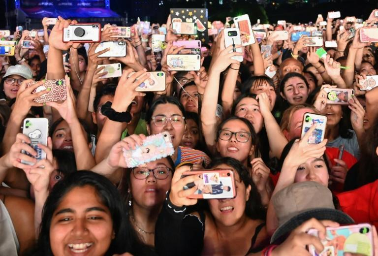"""New York's """"homecoming"""" concert would be another on a list of major events held in Central Park, like the Global Citizen concert in September 2019, seen here"""