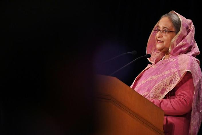 Bangladesh Prime Minister Sheikh Hasina announced a set of stimulus packages worth $8.5 billion (AFP Photo/CHARLY TRIBALLEAU)