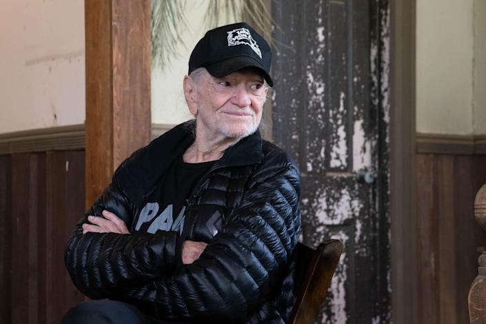 Willie Nelson discusses his new album 'Ride Me Back Home' during a taping for SiriusXM's Willie's Roadhouse Channel at Luck Ranch on April 13, 2019 in Spicewood, Texas.