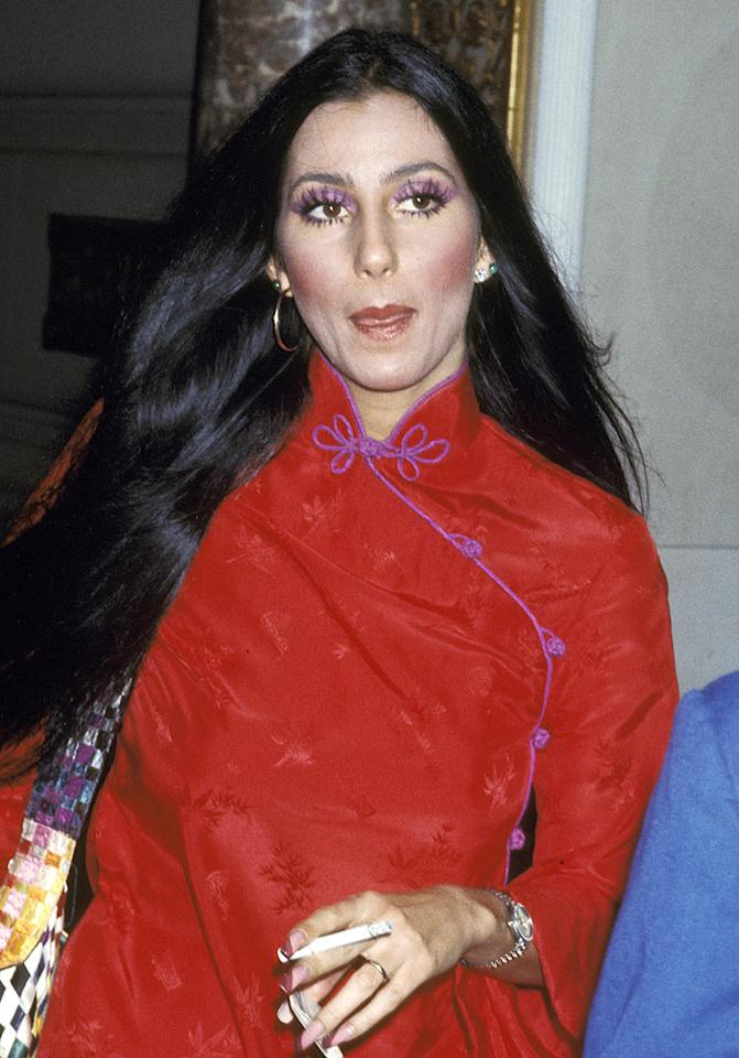 """<a href=""""http://www.getback.com/gallery/celebrity-plastic-surgery/2986253/23"""" target=""""_new"""">Cher</a>, who has dubbed herself the """"plastic surgery poster girl,"""" confessed to having had rhinoplasty (her first procedure), cosmetic dental work, breast augmentation, and a face lift. Ron Galella/<a href=""""http://www.wireimage.com"""" target=""""new"""">WireImage.com</a> - August 23, 1975"""