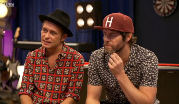 Take That's Mark and Howard have words of encouragement for the contestants on Let it Shine