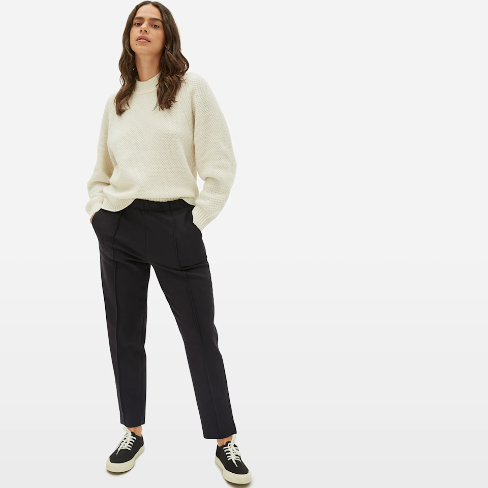 """<br><br><strong>Everlane</strong> The Dream Pant, $, available at <a href=""""https://go.skimresources.com/?id=30283X879131&url=https%3A%2F%2Fwww.everlane.com%2Fproducts%2Fwomens-live-in-pant-black"""" rel=""""nofollow noopener"""" target=""""_blank"""" data-ylk=""""slk:Everlane"""" class=""""link rapid-noclick-resp"""">Everlane</a>"""