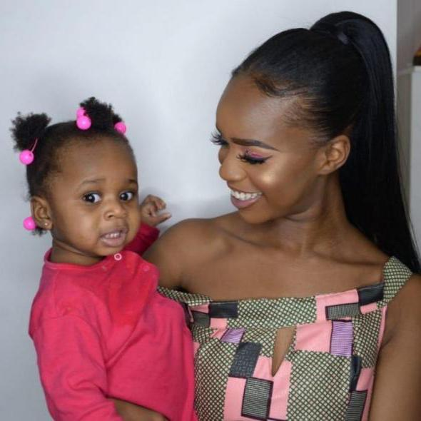 Verphy Kudi (right) with her daughter, Asiah.