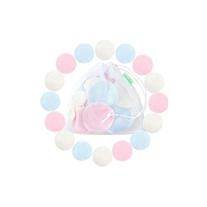 """<h3>Wegreeco Reusable Bamboo Cotton Pads</h3><br><strong>Jessica</strong><br><br>""""I was looking for reusable pads that I could swap out my cotton rounds with (I'm very picky about cotton rounds — the ones I got from the drugstore always left random strands of cotton on my face!) So I googled and found these. At first, I ended up with ones that were nursing pads, but these are smaller and softer, IMO. I use these every day — sometimes two! They're great for taking off makeup with makeup remover, a quick cleanse with micellar water, or applying toner. I just toss them in a delicates bag and wash them with the rest of my laundry.""""<br><br><strong>Wegreeco</strong> Reusable Bamboo Makeup Remover Pads, $, available at <a href=""""https://amzn.to/2M2wsE8"""" rel=""""nofollow noopener"""" target=""""_blank"""" data-ylk=""""slk:Amazon"""" class=""""link rapid-noclick-resp"""">Amazon</a>"""