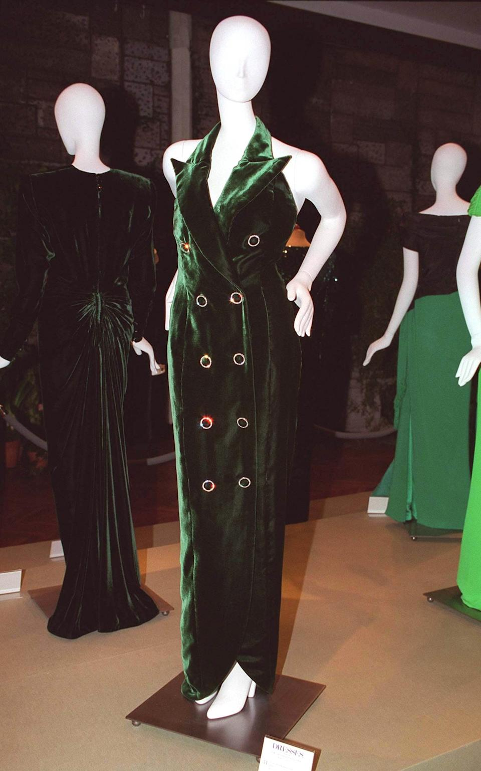 Diana's velvet Catherine Walker tuxedo dress - Getty