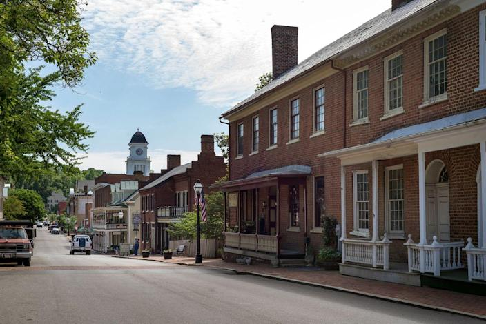 """<p><strong>Established in:</strong> 1779</p><p>Jonesborough was <a href=""""https://www.britannica.com/place/Jonesborough"""" rel=""""nofollow noopener"""" target=""""_blank"""" data-ylk=""""slk:founded"""" class=""""link rapid-noclick-resp"""">founded</a> as a planned community in 1779 and was named for Willie Jones, a politician from North Carolina. It was designated as the capital at one point, and is now a quaint town that is a popular tourist destination in the state. </p>"""