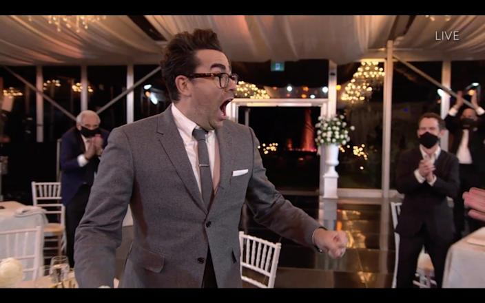 Dan Levy won four times at the 72nd Emmy Awards.