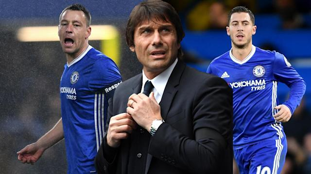 John Terry, Antonio Conte and Eden Hazard are all key figures at Chelsea