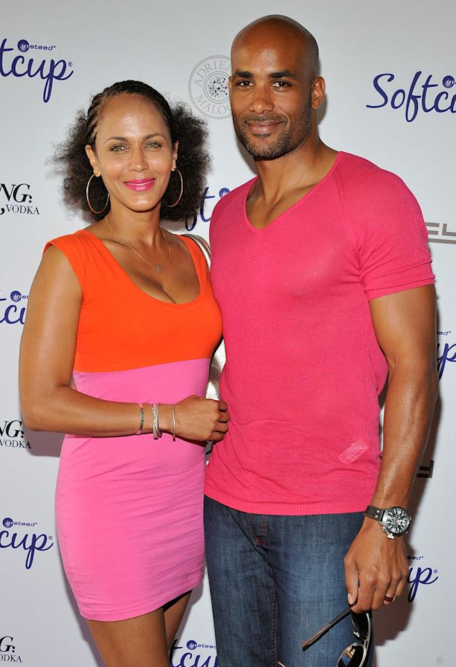 BEVERLY HILLS, CA - SEPTEMBER 20:  Nicole Ari Parker and Boris Kodjoe attend the Softcup Beauty Retreat with ZING Vodka Cocktails at a private residency on September 20, 2012 in Beverly Hills, California.  (Photo by Angela Weiss/WireImage)