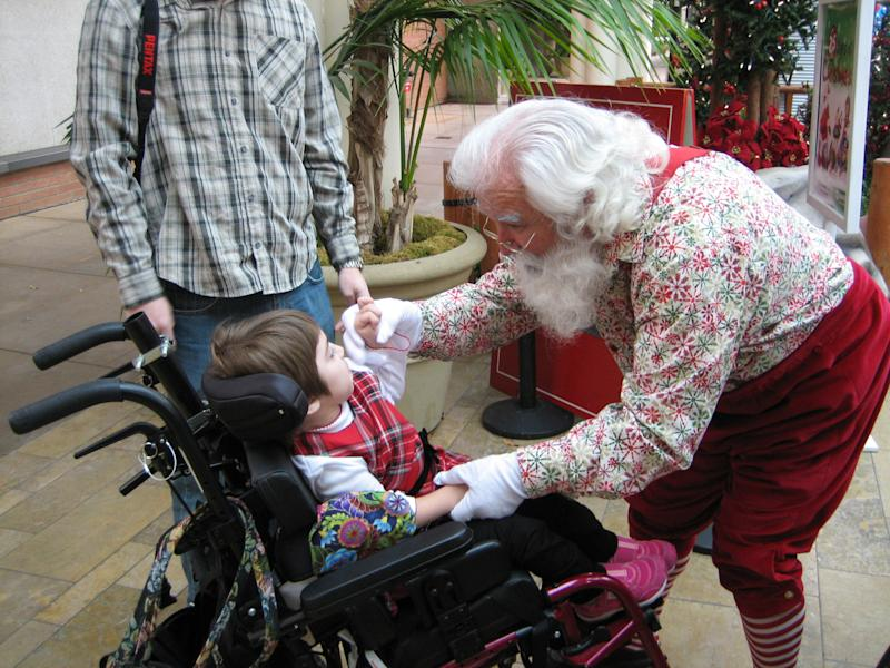 Santas are trained to accommodate a child's specific needs. (Photo: Cherry Hill Programs)