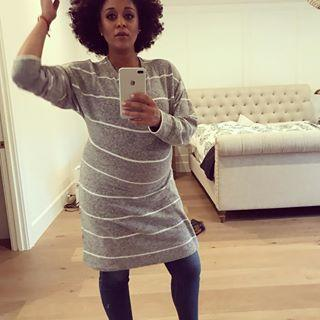 <p>Mowry checks her hair before heading out. (Photo: Instagram/tiamowry) </p>