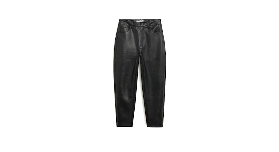 Textured crop trousers
