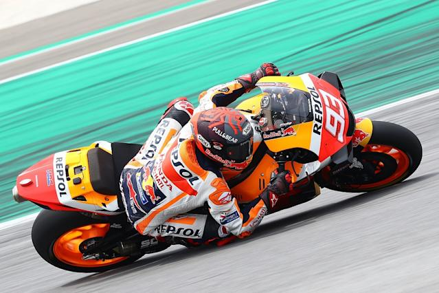 Marquez more worried about bike than injury